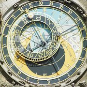 Detail of Horloge, Old Town Hall, Prague, Czech Republic Stock Photos