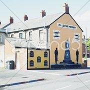 Political mural painting, Belfast, Northern Ireland Stock Photos