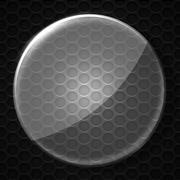 Set 8. glass on black metallic mesh wall. Stock Illustration
