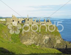 Ruins of Dunluce Castle, County Antrim, Northern Ireland Stock Photos