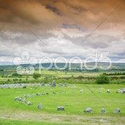 Stone circles, Beaghmore, County Tyrone, Northern Ireland Stock Photos