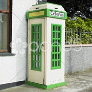 Telephone booth, Malin, County Donegal, Ireland Stock Photos