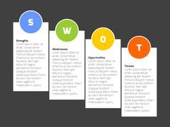 SWOT Business Infographic Diagram Stock Illustration