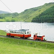 Narrow gauge railway, Fintown, County Donegal, Ireland Stock Photos