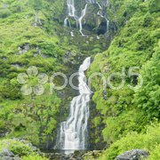 Assarancagh Waterfall, County Donegal, Ireland Stock Photos