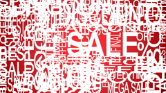 Sale words. Sales promotional. Store Sale concept.  Stock Footage