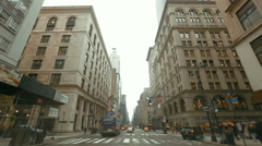 Driving through the NewYork city Stock Footage
