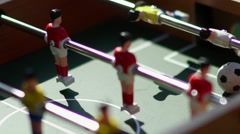 Foosball. Invisible playing table football. Unknown playing foosball Stock Footage