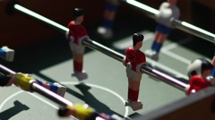 Kicker. Invisible playing table football. Unknown playing foosball Stock Footage