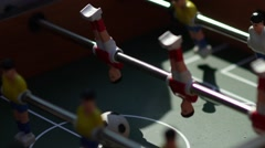 The figures for the game of table football spinning Stock Footage