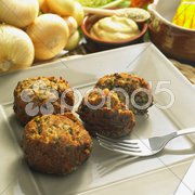 Rissole with mangold Stock Photos