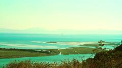 BUTRINTI ALBANIA LAKE VIVARI IONIAN SEA Stock Footage