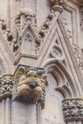 Stone Carving of Cathedral Sainte-Marie de Bayonne Stock Photos
