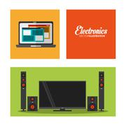Electronic appliances for home design Stock Illustration