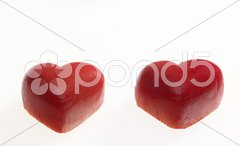 Marchpane hearts Stock Photos