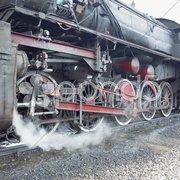 Detail of steam locomotive (33-326), Dubrava, Bosnia and Hercegovina Stock Photos