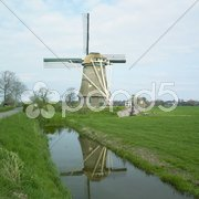 Windmill near Nederhorst den Berg, Netherlands Stock Photos
