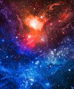 Galaxy stars nebula. Abstract space background. Elements of this image furnis Stock Illustration
