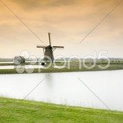 Windmill, Texel Island, Netherlands Stock Photos