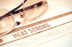 Diagnosis - Heat Stroke. Medical Concept. 3D Illustration Stock Illustration