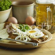 Beef goulash with egg Stock Photos