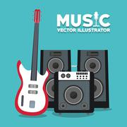 Musical instrument and sound design Stock Illustration