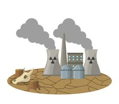Global warming and environment design Stock Illustration