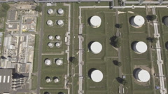 Aerial view of oil refinery - petroleum refinery Stock Footage