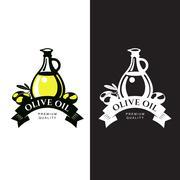 Logo Set about olive oil Stock Illustration