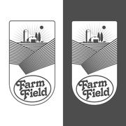 Farmers with fields badges Piirros