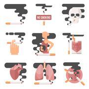 Concept of nicotine consumption, smoking pregnant Stock Illustration
