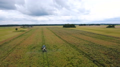 Landscape aerial view of the agri field Stock Footage