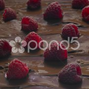 Raspberries with chocolate Stock Photos