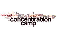 Concentration camp word cloud Stock Illustration