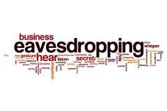 Eavesdropping word cloud Stock Illustration