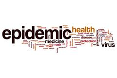 Epidemic word cloud Stock Illustration