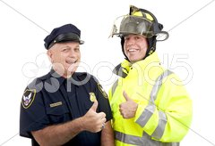 Blue Collar Heroes - Thumbsup Stock Photos