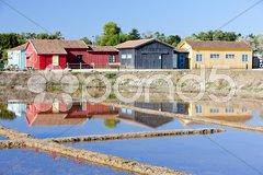 Saline, Port des Salines, Oleron Island, Poitou-Charentes, France Stock Photos
