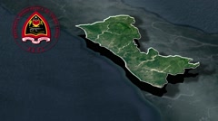 Cova Lima with Coat Of Arms Animation Map Stock Footage