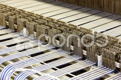 Close up of textile machine Stock Photos