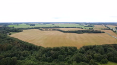 Aerial shot of the empty agri field Stock Footage