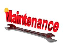 Maintenance concept, 3d illustration Stock Illustration