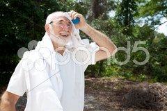 Sweaty Senior Athlete Stock Photos