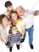 Self portrait of happy family Stock Photos