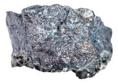 Specimen of magnetite ore isolated on white Stock Photos