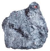 Antimony ore specimen (Stibnite, antimonite) Stock Photos