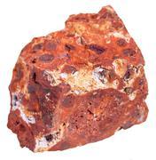 Bauxite (aluminium ore) stone isolated on white Stock Photos