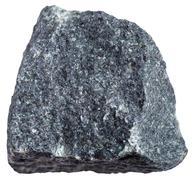 Gabbro stone isolated on white background Stock Photos