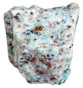 Amazonitic granite stone isolated on white Stock Photos