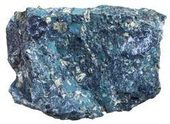 Kimberlite stone isolated on white background Stock Photos